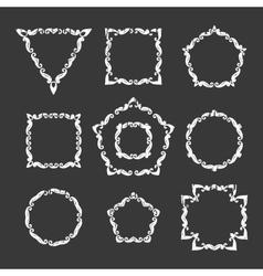 Set ten different retro floral frame vector