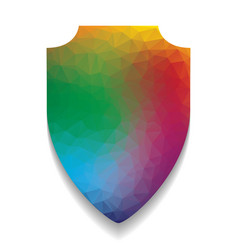 shield sign colorful icon vector image