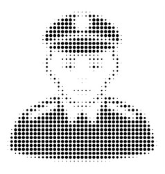 soldier halftone icon vector image