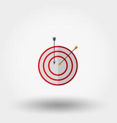 Target with an arrow vector