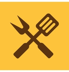 The bbq icon Barbecue and kitchen cook symbol vector image