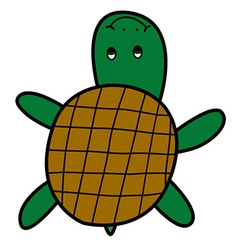 Turtle doodle style vector