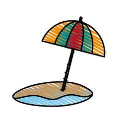 Umbrella beach design vector