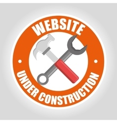 Under construction and tools vector