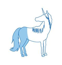 Unicorn legendary mythical creature icon vector