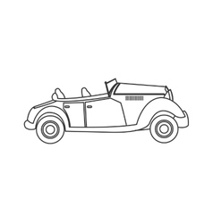 Vintage convertible car icon vector