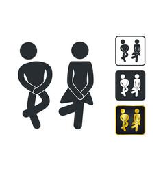 Wc sign for restroom toilet door plate icons men vector