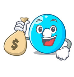with money bag the number zero on the character vector image