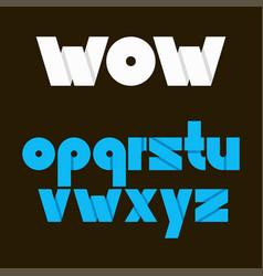 alphabet font letters for logo set of vector image