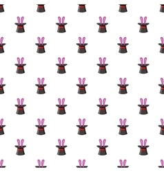 Hat with rabbit pattern cartoon style vector image vector image