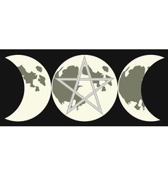 triple goddess sign vector image