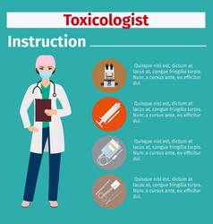 medical equipment instruction for toxicologist vector image
