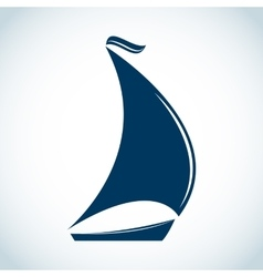 Sailing boat icon in flat design vector image vector image
