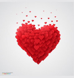 valentines red heart vector image vector image