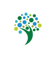 abstract human logo design vector image vector image