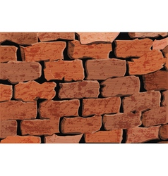 background of a red brick wall vector image vector image