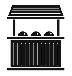 carnival fair booth icon simple style vector image