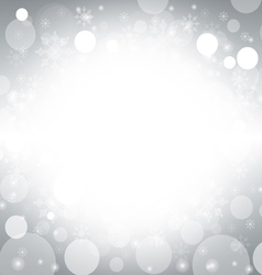 Christmas and winter background - silver vector image vector image
