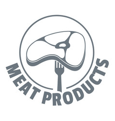 meat products logo simple style vector image