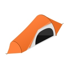 Red camping tent vector