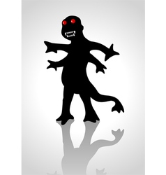 Silhouette of a strange creature vector image