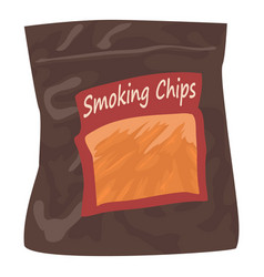 Smoking chips icon cartoon style vector