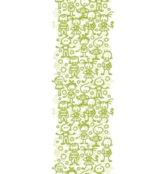Children playing vertical seamless pattern vector image vector image