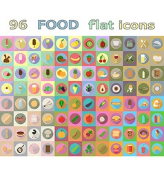 food flat icons 05 vector image vector image