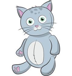 grey cat toy vector image vector image