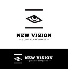 minimalistic black and white eye logo Eye vector image