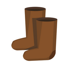 pair of retro russian style felt boots isolated vector image