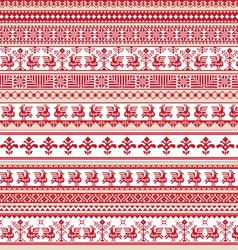 Set of differents repeating scroll borders vector image