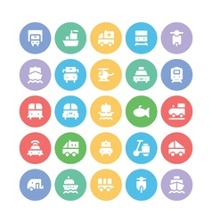Transport Bold Icons 4 vector image