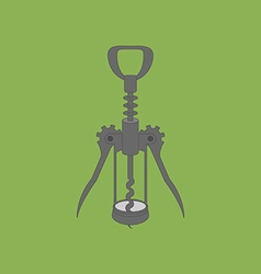 Wine Bottle Corkscrew Icon vector image vector image