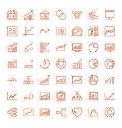 49 chart icons vector image