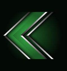 Abstract green silver line arrow direction design vector