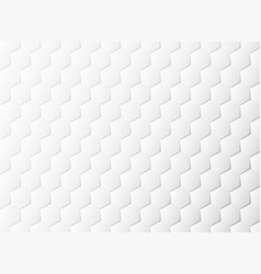 abstract hexagon pattern white paper cut design vector image