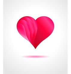 Abstract pink heart on gray background vector image