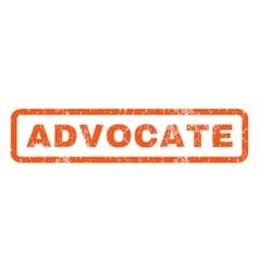 Advocate rubber stamp vector
