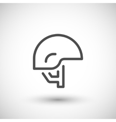 Army helmet line icon vector