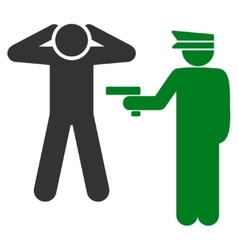 Arrest icon from Business Bicolor Set vector image
