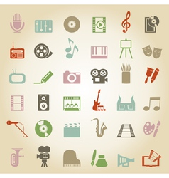 Art music media icon vector