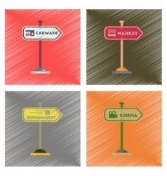assembly flat shading style icons sign of market vector image