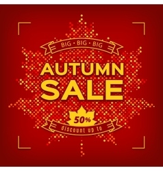 Autumn Sale card Fall discount banner vector
