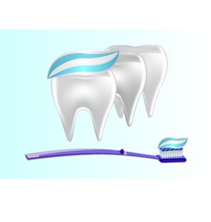 banner toothpaste teeth vector image