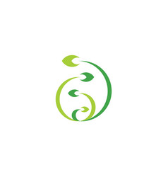 biology plant growth logo icon symbol design vector image