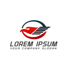 bird logistic logo design concept template vector image