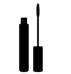 black mascara brush with tube vector image