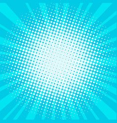 blue pop art background vector image