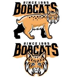 Bobcat mascot vector